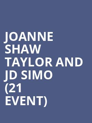 Joanne Shaw Taylor and JD Simo (21+ Event) at The Urban Lounge