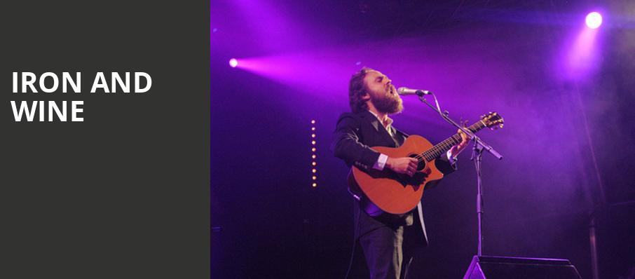 Iron and Wine, Capitol Theatre, Salt Lake City