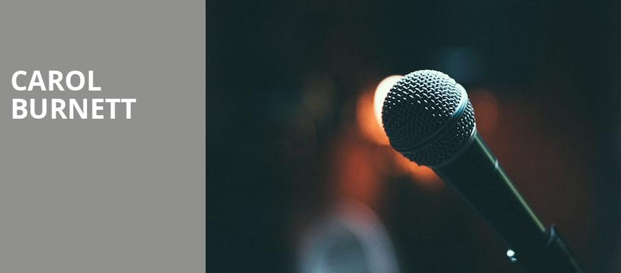 Carol Burnett, Eccles Theater, Salt Lake City
