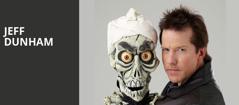 Jeff Dunham, Eccles Theater, Salt Lake City