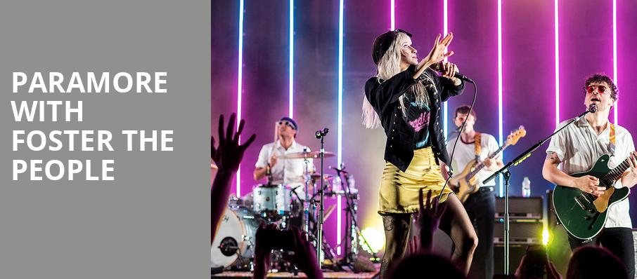 Paramore with Foster The People, Usana Amphitheatre, Salt Lake City