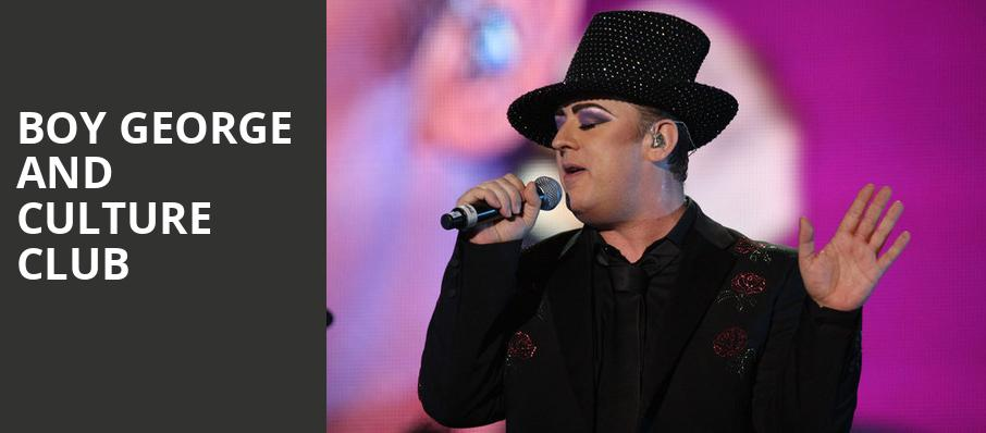 Boy George and Culture Club, Maverik Center, Salt Lake City