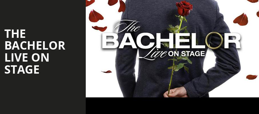 The Bachelor Live On Stage, Eccles Theater, Salt Lake City