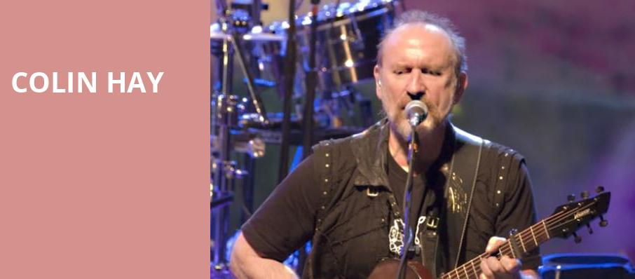 Colin Hay, Jeanne Wagner Theatre, Salt Lake City